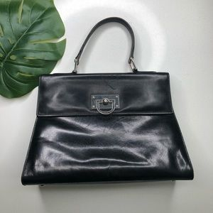Genuine Italian Leather Top Handle Crossbody